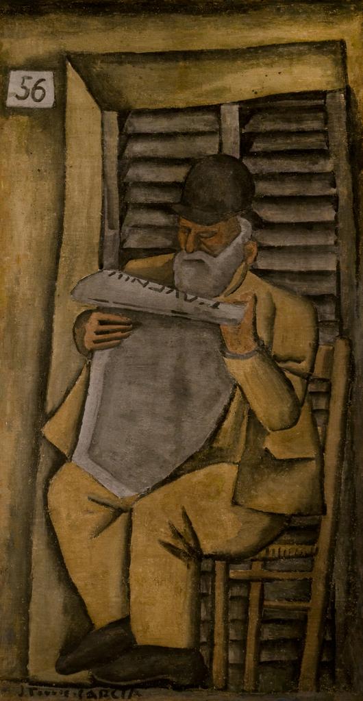 Torres García, Joaquín. Figura de hombre. Año ca 1926-1928 Tomado de: http://autores.uy/obra/7798