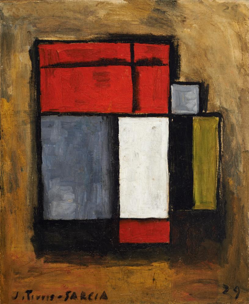 Torres García, Joaquín. Formas abstractas. Año 1929. Tomado de: http://autores.uy/obra/7915
