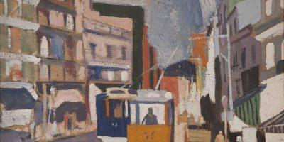 Torres García, Joaquín. Paisaje de ciudad.   Año 1918 . Tomada de: Museo Nacional de Artes Visuales http://mnav.gub.uy/cms.php?o=1566