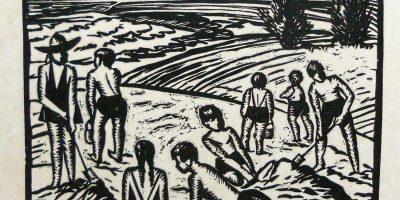 Viera, P. Jugando en la playa. Tomado de: http://autores.uy/obra/12025