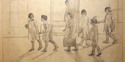 Viera, P. Niñas escuela. s/f. Tomado de: http://autores.uy/obra/12055