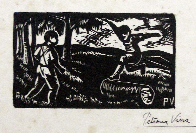 Viera, P. Niños saltando un tronco. s/f. Tomado de: http://autores.uy/obra/12551