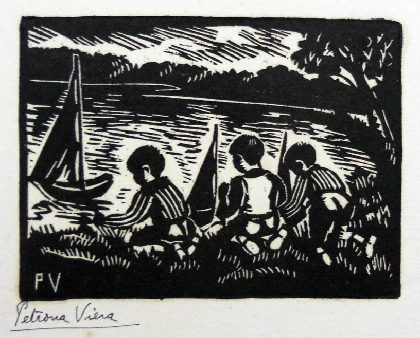 Viera, P. Niños con botes. Tomado de: http://autores.uy/obra/12376