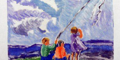 Viera, P. Niños con cometas. Tomado de: https://autores.uy/obra/12009